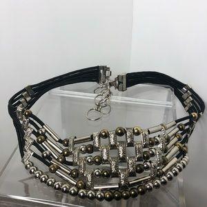 """Vintage silver tone belt 41"""" total length"""